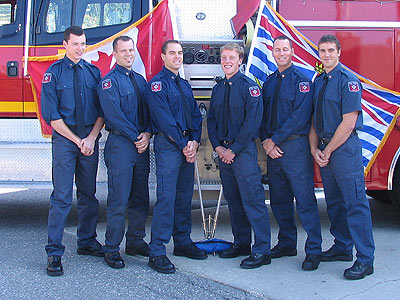 WEP #5 Jason Rouse – Hired by London Fire Department Mike Griffin – Hired by Richmond Fire Department Doug Jones – Paid on Call at Westside Fire Department Trevor Spooner – Paid on Call at Campbell River Fire Dearptment Andrew Clark – Hired at Ottawa Fire Service Scott Sproston – Hired at Vancouver FRS